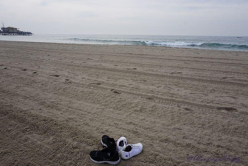 Footprints in the sand – Santa Monica Pier