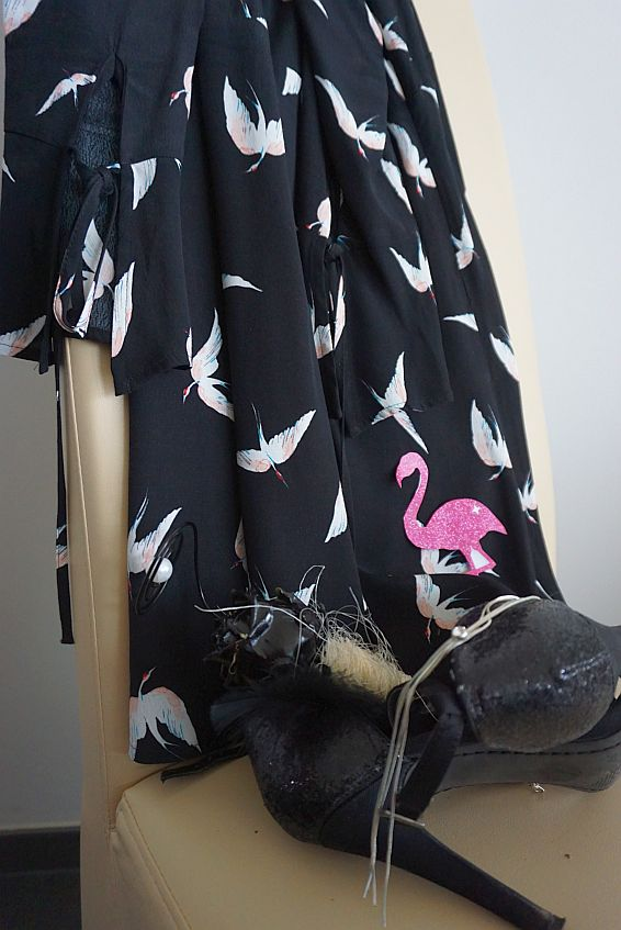 Flamingokleid